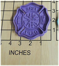 Fire Fighter Shield Cookie Cutter and Stamp #1078