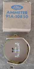 1937 38 39 Ford NOS Ammeter Gauge Assembly 1940 COE 91A-10850