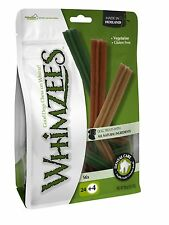 Whimzees Handy Resealable Bag Stix Small Chews Treats - 24pcs + 4FOC
