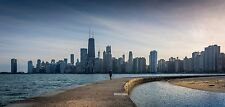 Chicago Skyline sunset HDR photo on canvas from artist art image  poster
