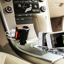 LCD Car Kit MP3 Music Charger Wireless Bluetooth FM Transmitter Radio 2 USB Port