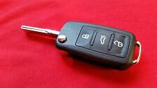 VW CADDY BEETLE EOS GOLF MK6 JETTA POLO TOURAN UP  BUTTON REMOTE KEY FOB CASE