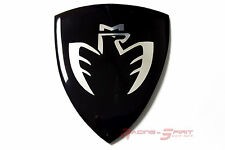 UNIQUE GLOSSY FIBER BLACK MIDSHIP LOGO FENDER BADGE EMBLEM MR2 SPYDER MR-S JDM