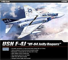 Academy Plastic Model kit 1/48 USN F-4J VF-84 Jolly Rogers Cartograf Decal 12305