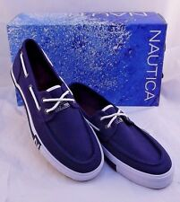 NWT NAUTICA Spinnaker II Blue NM357BJD Boat Shoe Men Size 12 M (US) RETAIL $69