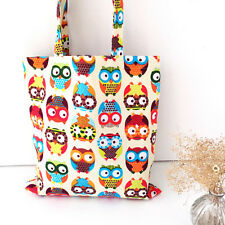 New Owl Womens Canvas Capacity Handbag Shopping Shoulder Bag Shopper Tote