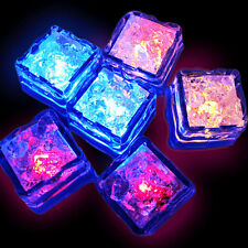 12x Water Sensor Colors Change Ice Cubes Light Up Party LED Wedding Party Decor