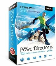 CyberLink PowerDirector 15 Ultra pdref 00rpu000 video editor audiodirector PC NUOVO