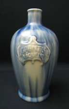 ANTIQUE GRANTS LIQUEUR SCOTCH WHISKEY MAJOLICA POTTERY DECANTER BOTTLE