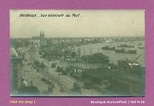PHOTO CARTE-POSTALE 1920 : BORDEAUX, VUE GÉNÉRALE DU PORT, BATEAUX  - M80