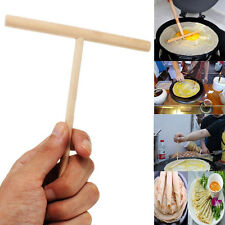 5'' Crepe Maker Pancake Batter Wooden Spreader Stick Home Kitchen Tool Kit