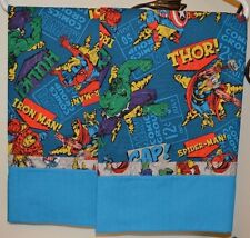 Super Heroes Marvel Pillowcases TWO handmade standard/queen100% cotton NEW
