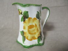COLLECTIBLE VINTAGE CASH FAMILY ERWIN TN SMALL PITCHER WITH YELLOW FLOWER EXC.