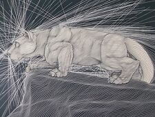 """Guillaume Azoulay """"Nittany Lion"""" Limited Edition Etching  #338/350"""