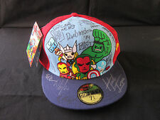 Toki Doki Iron Man Hulk Avengers Hat signed by 40+ Marvel Artist Herb Trimpe