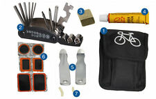 Cycling Bike Bicycle Tire Tyre Pump Repair Patch Multi-use Tools Kit 16 In 1 Bag