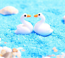 2pcs Mini Cute Lover Goose Resin Garden Ornament Micro Landscape DIY Decoration