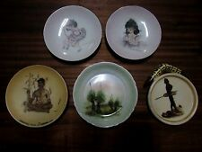 AUSTRALIAN POTTERY WALL PLATES BROWNIE DOWNING ABORIGINAL BALLERINAS BLACK BOYS