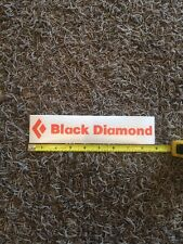 "Black Diamond Vinyl Sticker Logo Decal 9"" Orange"