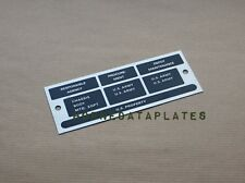 M416 TRAILER RESPONSIBLE AGENCY DATA PLATES ID TAGS M38 M38A1 M151 MUTT