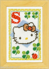 Vervaco  0149581  Alphabet © Hello Kitty - Lettre S  Kit  Point de Croix  Compté