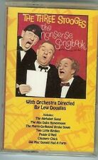 The Three Stooges - THE NONSENSE SONG BOOK - CASSETTE - NEW