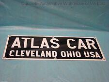 Atlas Car Cleveland Ohio USA Porcelain Dock Pusher Train Tug Sign NOS