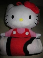 Hello Kitty Plush Backpack/Heart Fleece Throw Blanket Set For Girls - NWT $40