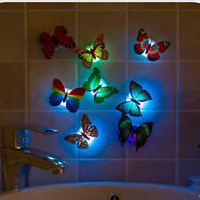 Change Colors Stick-on Butterfly Wall Xmas Decor LED Night Light  Lamp