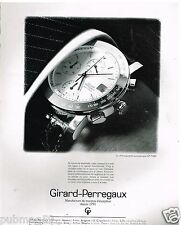 Publicité Advertising 1991 La Montre automatique chronographe Girard Perregaux