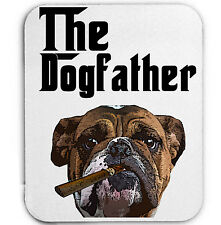 BRITISH BULLDOG DOGFATHER  MAFIA - MOUSE MAT/PAD AMAZING DESIGN