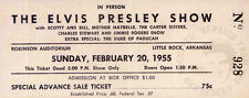 ELVIS PRESLEY REPRO 1955 ROBINSON AUDITORIUM LITTLE ROCK CONCERT TICKET . NOT CD