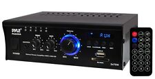 PYLE 2x75 WATT MINI COMPACT STEREO POWER AMP AMPLIFIER USB SD MP3 PLAYER AUX-IN