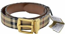 New~Burberry Men's Reversible HORSEFERRY Leather Belt Size105~RTL $500~Authentic
