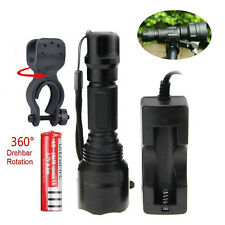 Ultrafire 2600LM Tactical C8 CREE XM-L XML T6 LED Flashlight Torch with Bracket
