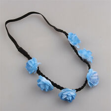 1pc Boho Blue Beach Flower Party Wedding Hair Garland Headband Womens Hair Band