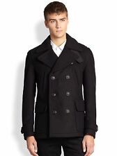 NWT BURBERRY BRIT $1295 MENS BRANTFORD WOOL PEACOAT JACKET COAT SZ SMALL