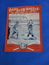 "1928 ""Babe Ruth! Babe Ruth! (We know what he can do)"" sheet music.  Great shape!"