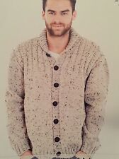 "M6 - Knitting Pattern - Aran Warm & Chunky Cardigan / Jumper - 36-48"" Chest"