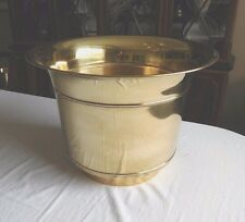 """Very Large Vintage Flared Top Classic Brass Floor Tree Planter Huge 20""""Wx14½""""H."""