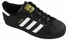 New Adidas- Superstar Foundation Shoes Black/Gold/White Size 7.5 M