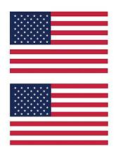 (2) American Flags USA United States Flags Car Truck Sticker Decal FLG1