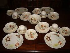 32 Pieces Red Wing Random Harvest Pattern Dinnerware - Complete 4 Place Setting