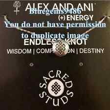 Alex and Ani Sacred Stud Endless Knot Necklace Silver Plated-Discontinued
