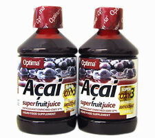 2 Bottles Optima Aloe Pura Acai Super Fruit Juice 500 ml Antioxidant drinks