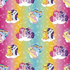 Fat Quarter My Little Pony Rainbow Toss Hasbro 100% Cotton Quilting Fabric