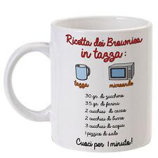 """Tazza """"Ricetta dei Brownies"""", come fare i brownies in tazza con il microonde!"""