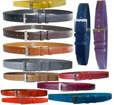 leather belt made of 100% Buffalo leather patterned Ladies Men's genuine leather