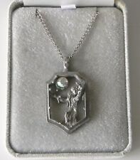 Unique & Interesting Pewter Wizard Pendant By The Whitehall Co. Jewelry Co.