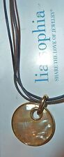 """NEW DEMO - LIA SOPHIA """"TAOS"""" NECKLACE - MOTHER-OF-PEARL - 2007/$48"""